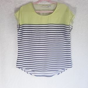 Chico's top stripes size 0